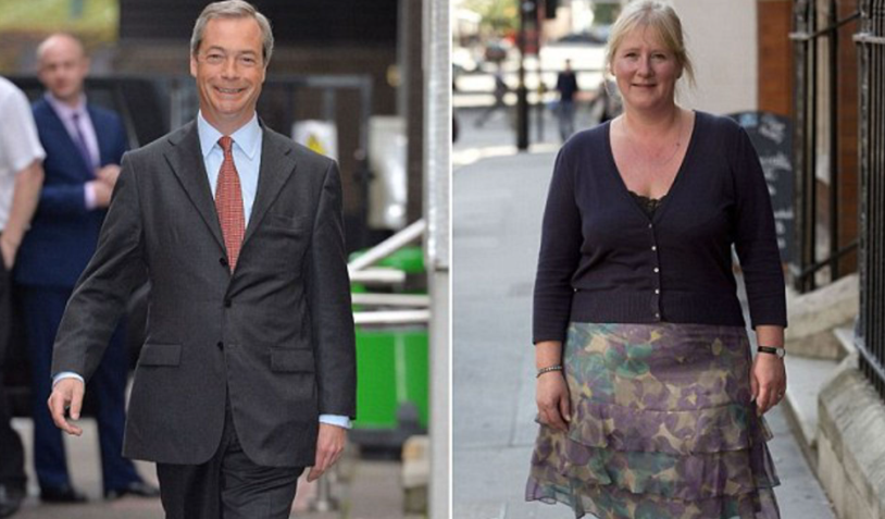 Nigel Farage (left) and his wife, Kristen Farage (right)