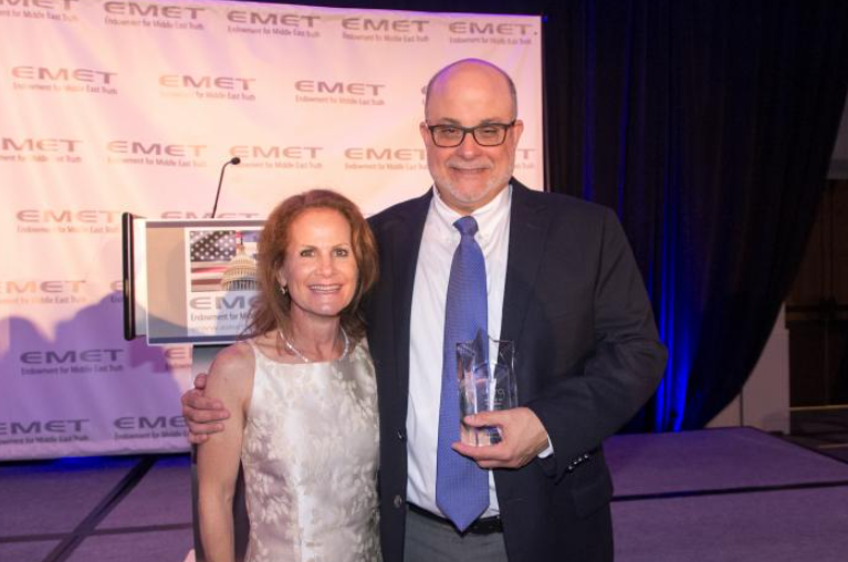 Mark Levin and his wife, Julie Prince