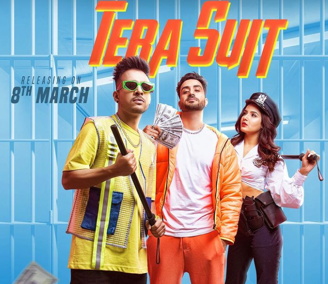 Jasmin Bhasin alongside her rumored boyfriend (Aly Goni) (middle) in the music video of 'Tera Suit'