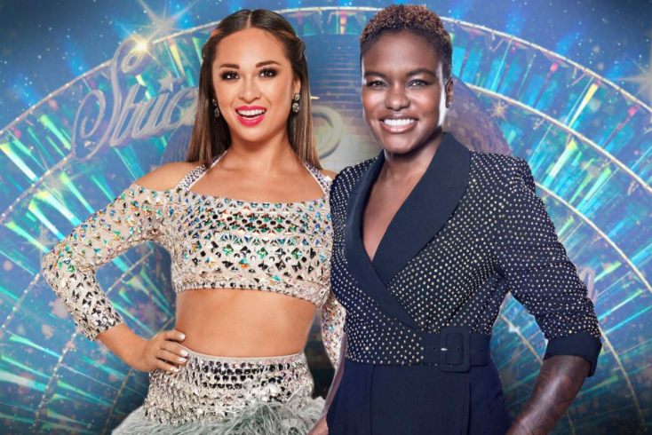 Nicola Adams and her partner, Katya Jones in Strictly Come Dancing
