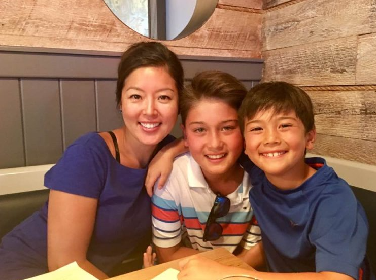 Ken Dilanian and his wife, Catherine Yoon and their sons