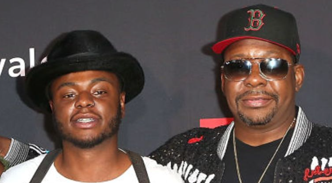 Bobby Brown Jr. with his father, Bobby Brown