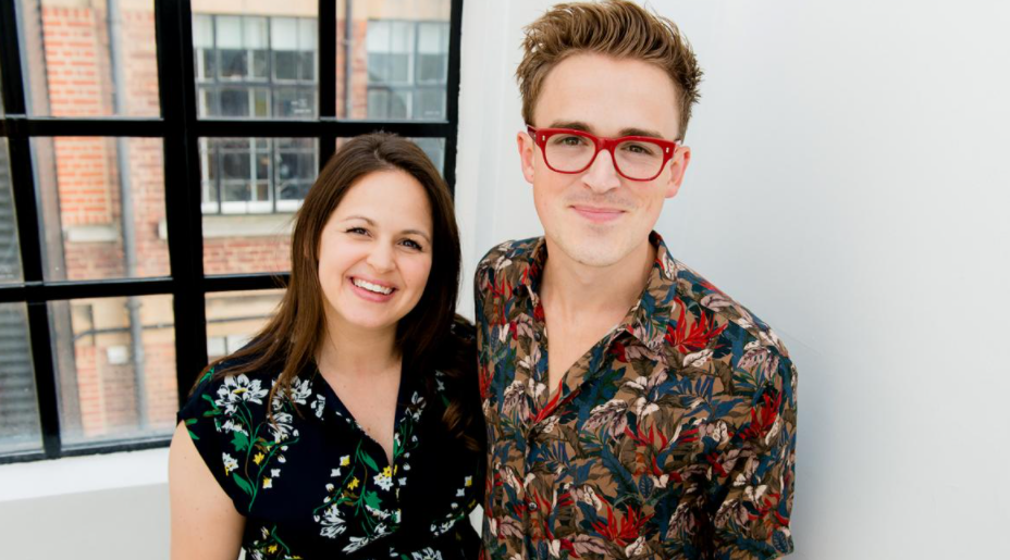 Tom Fletcher with his wife, Giovanna Fletcher