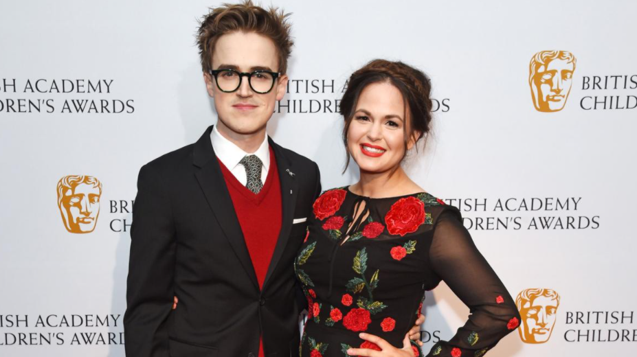 Giovanna Fletcher with her husband, Tom Fletcher