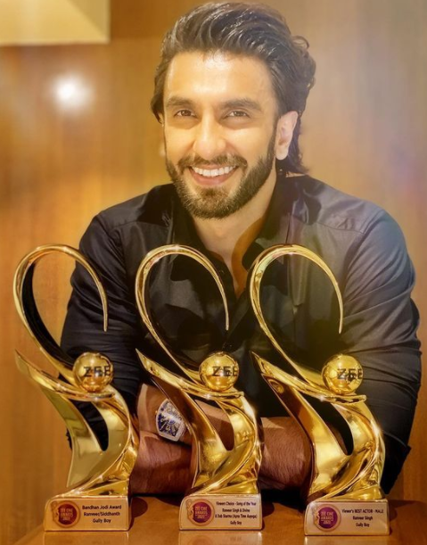 Ranveer Singh with Awards