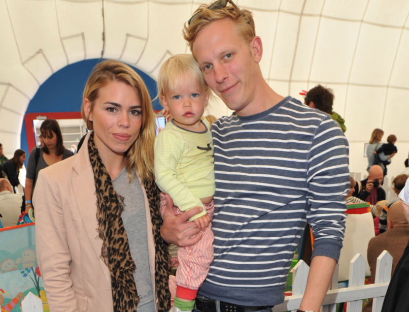 Laurence Fox with his ex-wife, Billie Piper and their son