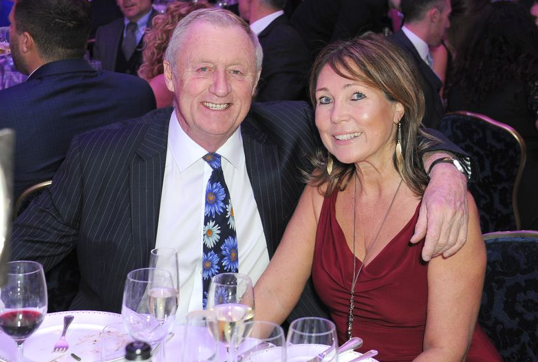 Chris Tarrant with his partner Jane at his 70th birthday