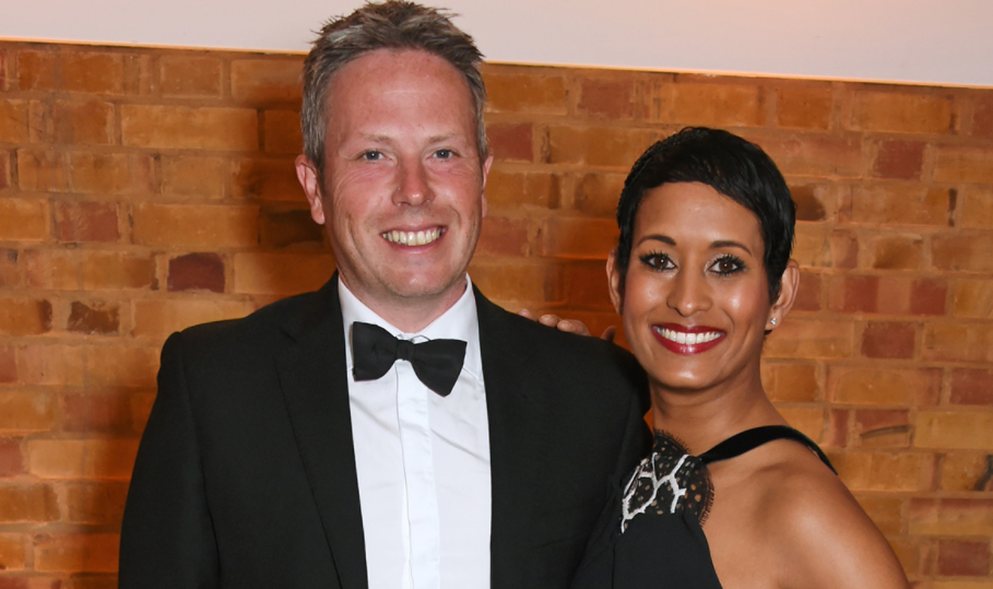 Naga Munchetty and her husband, James Haggar