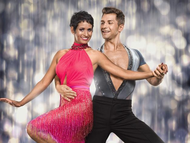 Naga Munchetty and her partner, Pasha Kovalev in Strictly Come Dancing
