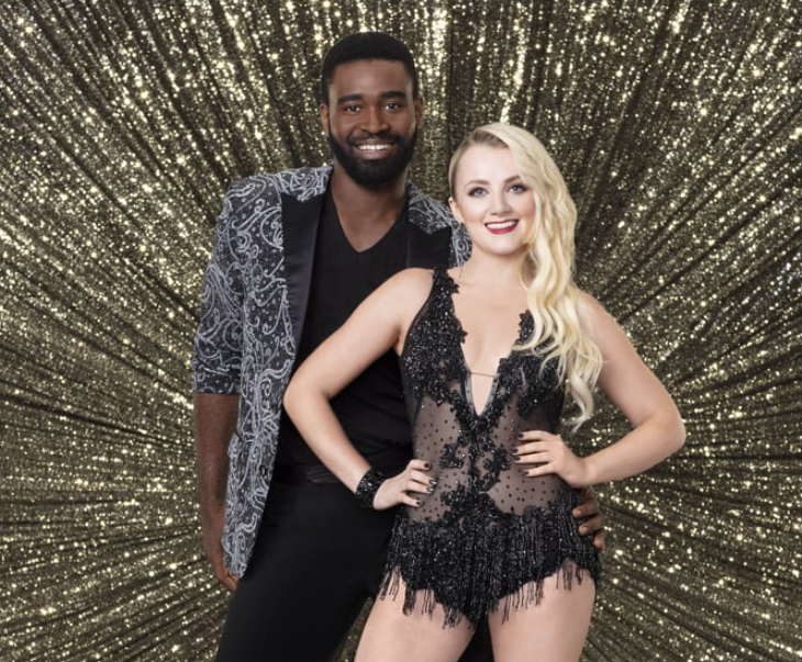 Keo Motsepe with Evanna Lynch in Dancing With The Stars in Season 26
