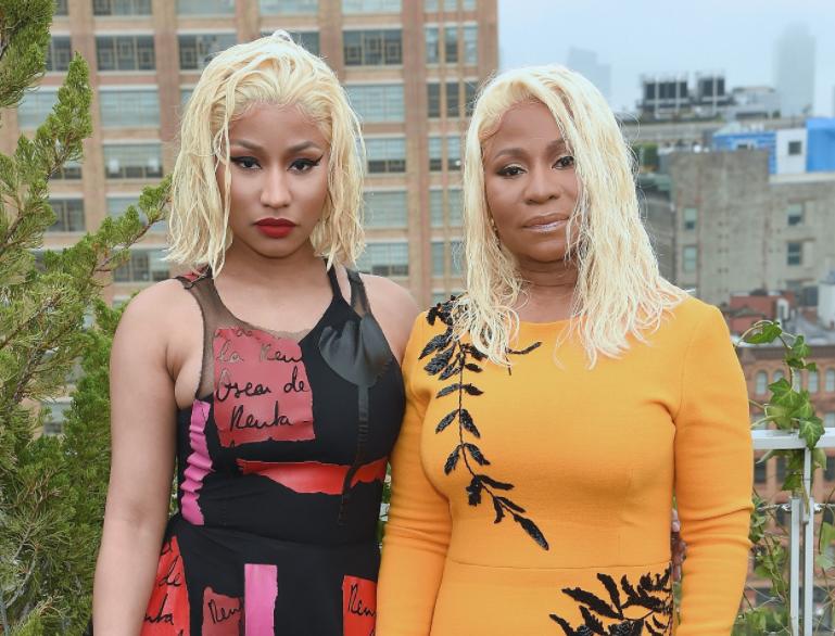 Carol Maraj with her daughter, Nicki Minaj