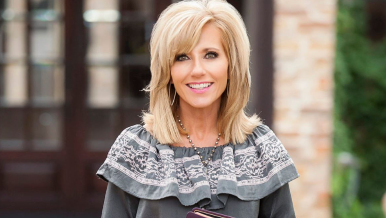 Beth Moore, a famous evangelist, author, and Bible teacher
