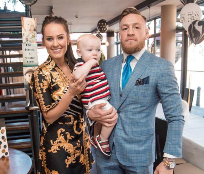 Dee Devlin with her husband, Conor McGregor and their Kid