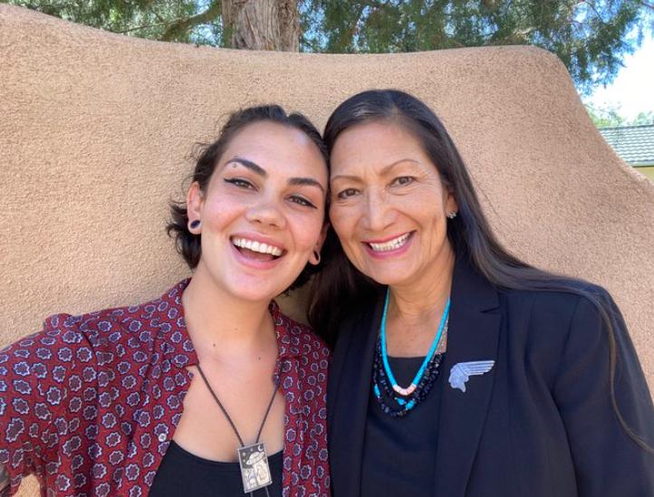 Deb Haaland with her daughter Somah