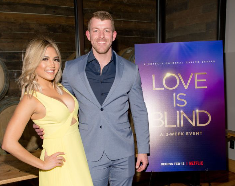 Damian Powers with his pair, Giannina Gibelli in the show 'Love Is Blind'