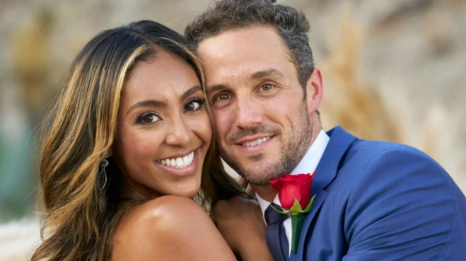 Zac Clark and his fiancee, Tayshia Adams