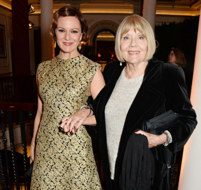 Diana Rigg with her daughter, Rachael Stirling