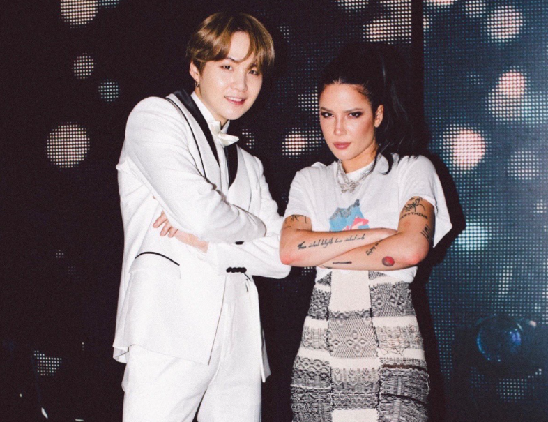 Suga and American Singer and songwriter, Halsey