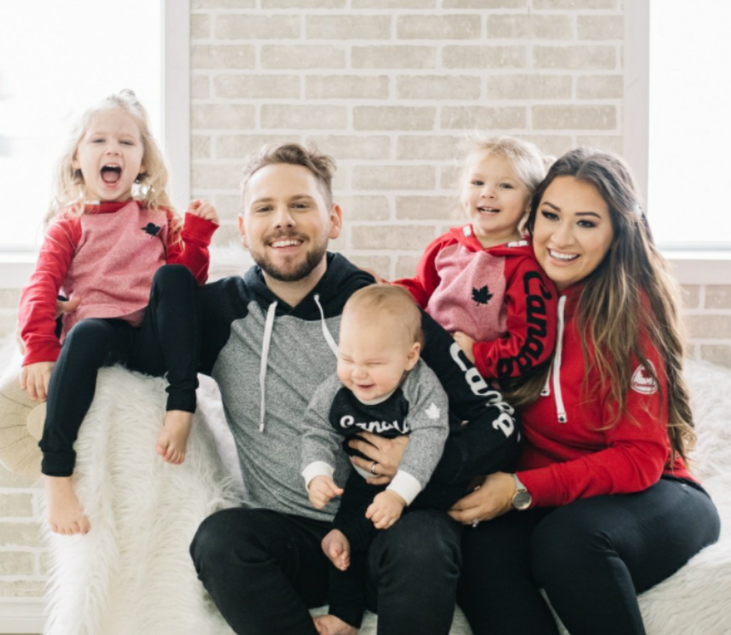 Cecilia Kissel with her husband, Brett Kissel and their kids