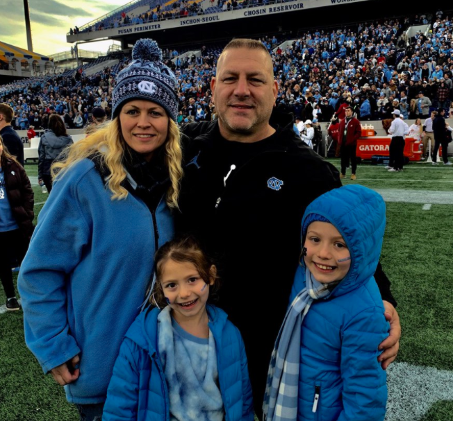 Phil Longo with his wife, Tanya and their daughters