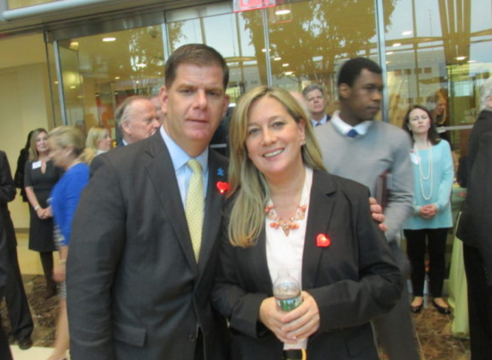 Mayor Marty Walsh and Lorrie Higgins