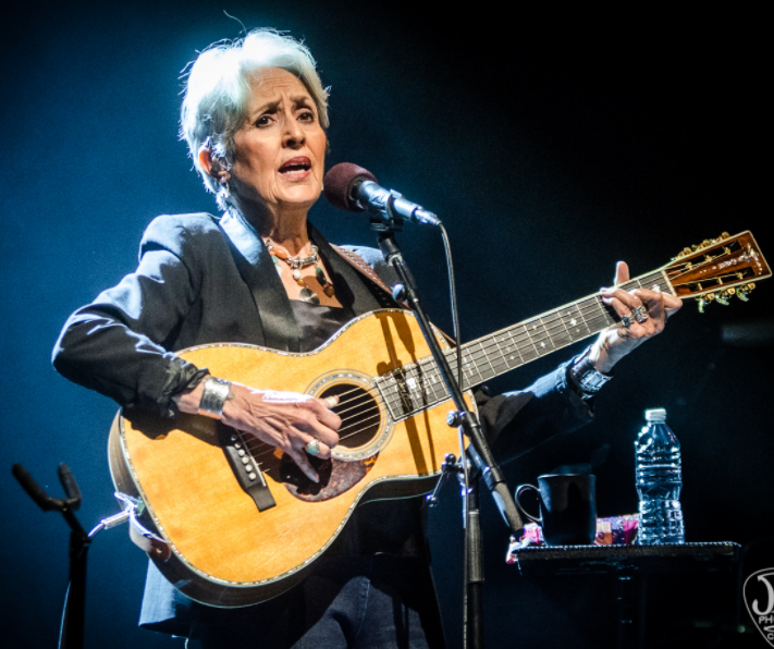 Joan Baez, a famous singer as well as a songwriter