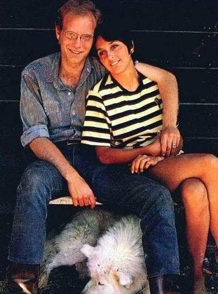 Joan Baez and her ex-husband, David Harris