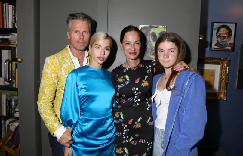 Cynthia Rowley with her husband, William Bill Poers and their daughters