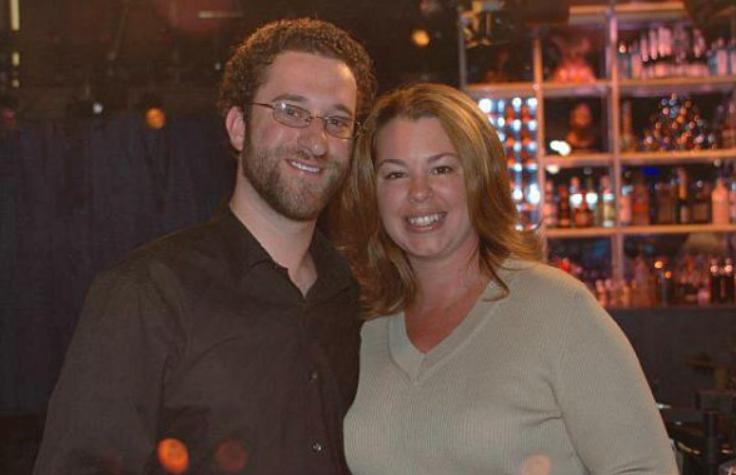 Dustin Diamond with his wife, Jennifer Misner