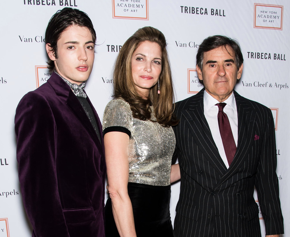 Harry Brant with his parents