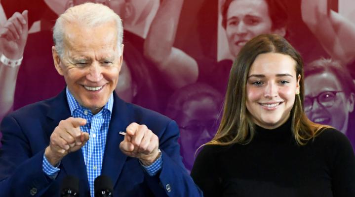 Natalie Biden with her grandfather, Joe Biden
