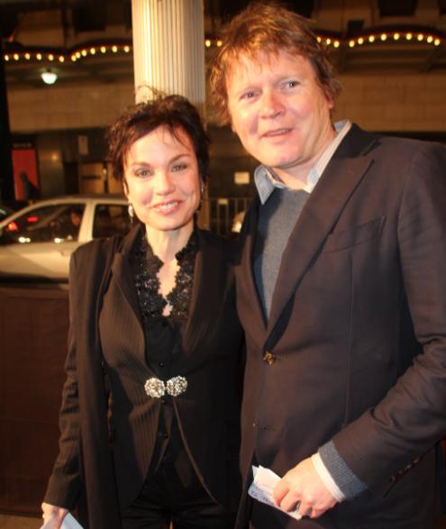 Sigrid Thornton and her husband, Tom Burstall