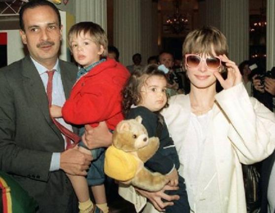 Ibrahim Moussa and Nastassja Kinski with their kids