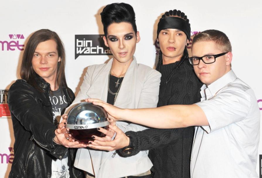The Band, Tokio Hotel in the year 2010 (Georg Listing, Bill Kaulitz, Tom Kaulitz, Gustav Schäfer)
