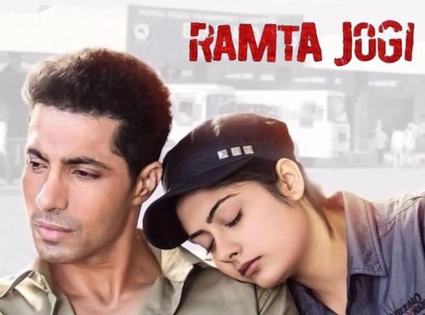 Deep Sidhu in the 2015 film Ramta Jogi with Ronica Singh
