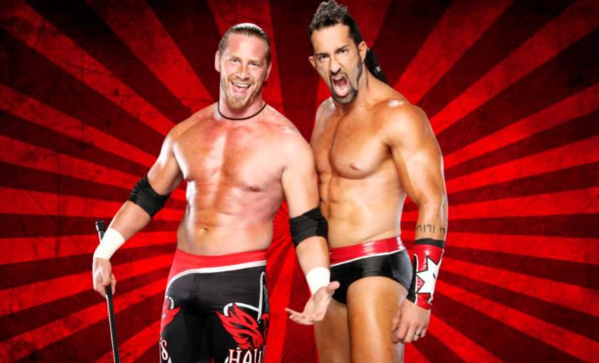 Tyler Reks and his fellow tag team partner, Curt Hawkins