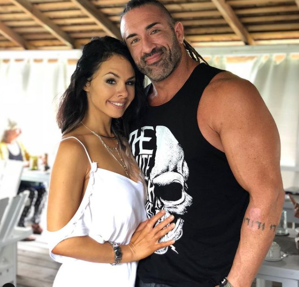 Tyler Reks with his wife, Priscilla