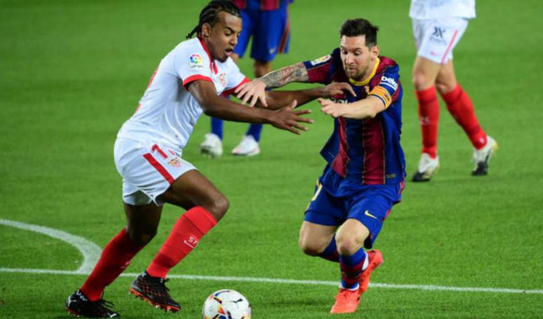 Jules Kounda Facing Against Lionel Messi