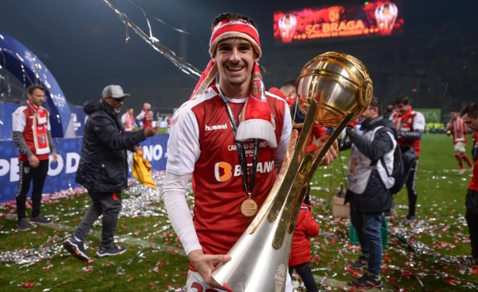 Francisco Trincao Holding the Cup During His Time In SC Braga
