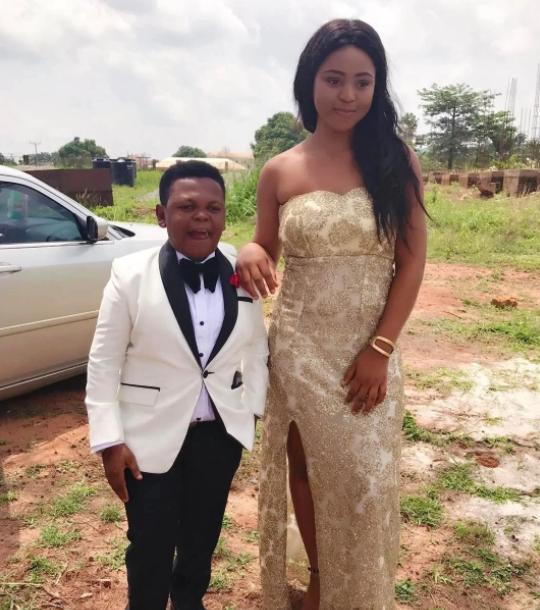 Osita Iheme with his wife, Noma