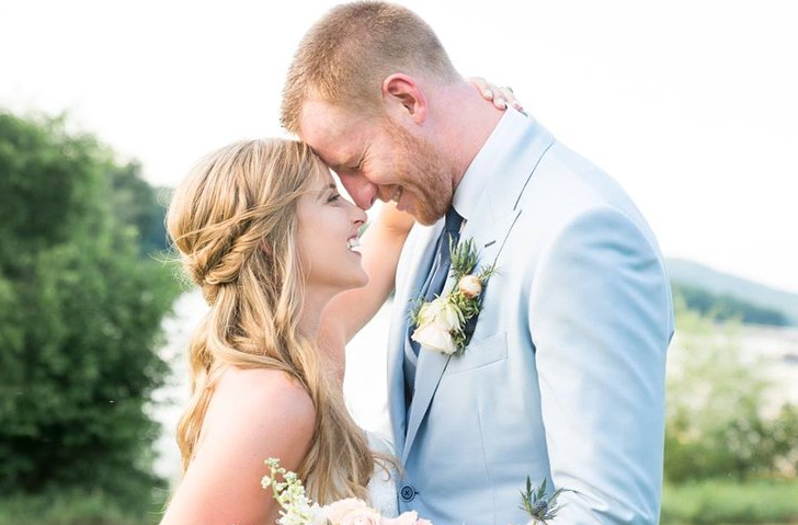 Carson Wentz and his wife, Madison Oberg