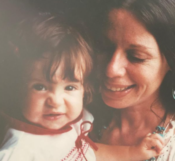 Soleil Moon Frye with her mother