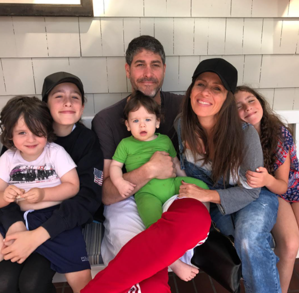 Soleil Moon Frye with her spouse and four kids