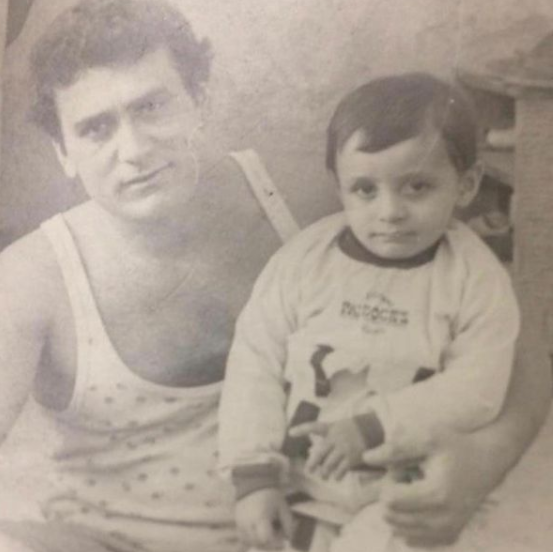 David Avanesyan with his father during his childhood