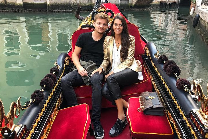 David Goffin and his girlfriend, Stephanie Tuccitto