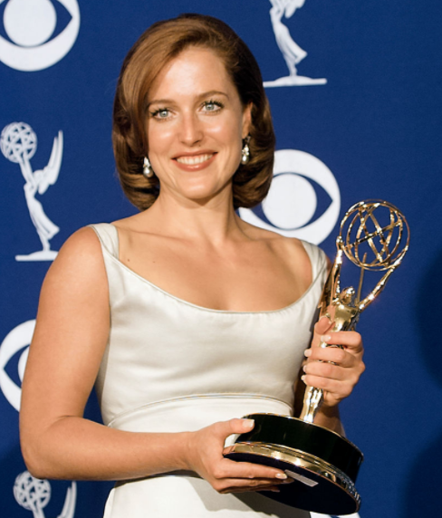 Gillian with her Emmy Award
