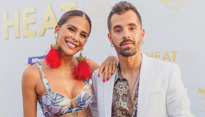Mike Bahia with his girlfriend, Greeicy Rendon