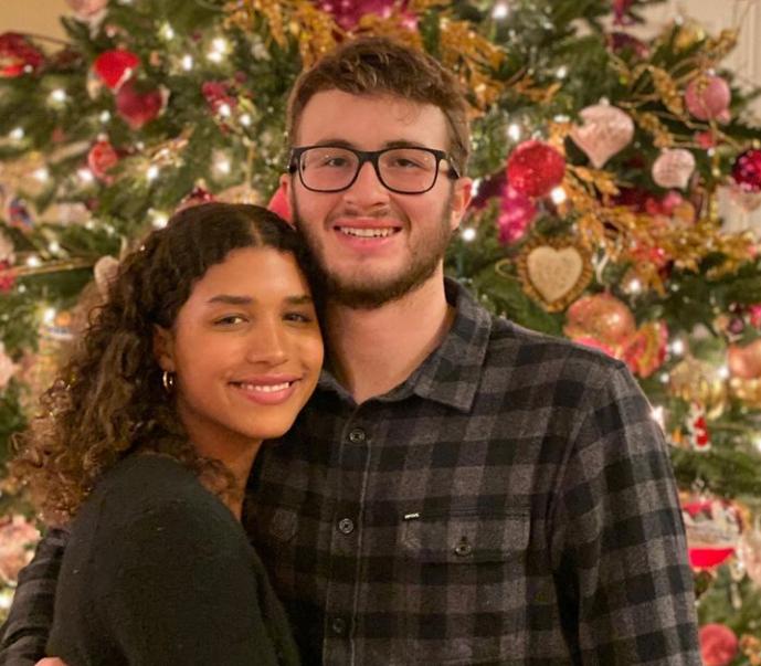 Maya Brady and her boyfriend, Garth White
