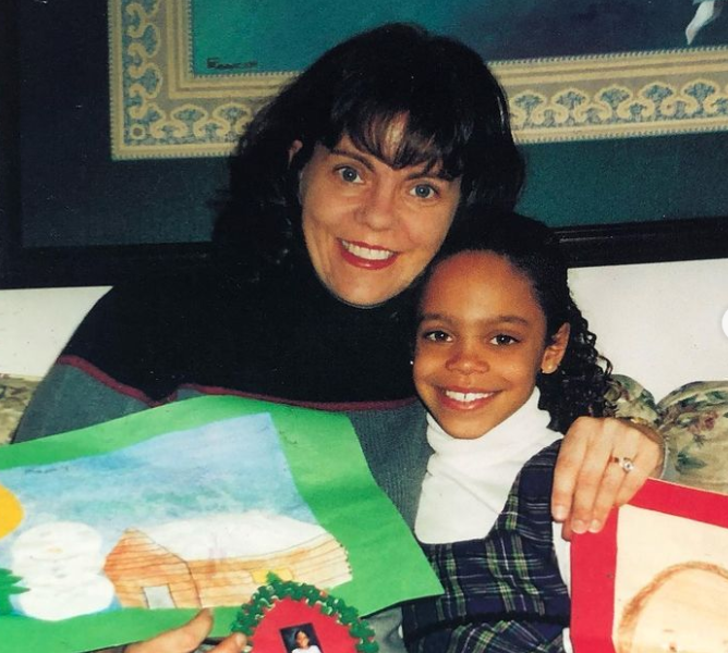 Michelle Young with her mom, LaVonne Young