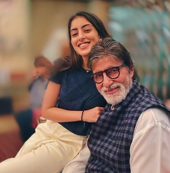 Navya Naveli Nanda and her grandfather, Amitabh Bachchan